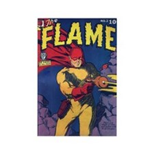 $4.99 Classic The Flame Rectangle Magnet