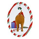 Irish Terrier Christmas Ornament (Oval)