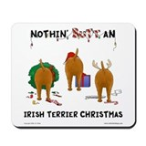 Irish Terrier Christmas Mousepad