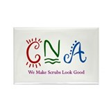 CNA We Make Scrubs Look Good Rectangle Magnet (10