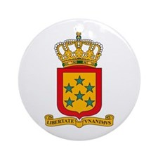 Netherland Antilles Coat of A Ornament (Round)
