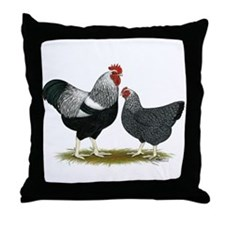 Plymouth Rock Penciled Chicke Throw Pillow