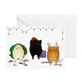 Pomeranian Christmas Greeting Card