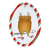 Pomeranian Christmas Ornament (Oval)