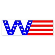 W Flag Bumper Bumper Sticker