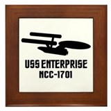 USS Enterprise Framed Tile