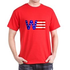 W Flag Black T-Shirt