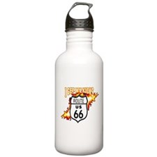 I Get My Kicks on Rt. 66 Water Bottle