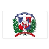 Dominican Republic Coat of Ar Sticker (Rectangular