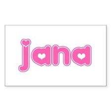 """Jana"" Rectangle Decal"