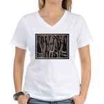 Ropes for the Rigging BW2 Women's V-Neck T-Shirt