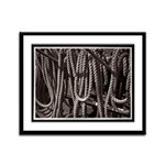 Ropes for the Rigging BW2 Framed Panel Print