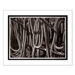 Ropes for the Rigging BW2 Small Poster