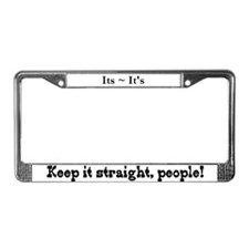 Pet Peeves (Its/It's) License Plate Frame
