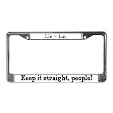 Pet Peeves (Lie/Lay) License Plate Frame