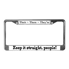 Pet Peeves (Their/There) License Plate Frame
