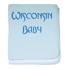 Wisconsin Baby (blue) Infant Blanket