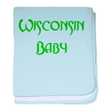 Wisconsin Baby (green) Infant Blanket