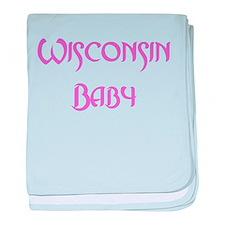 Wisconsin Baby (pink) Infant Blanket
