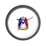 Acadian Shield Wall Clock