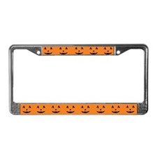 Halloween Pumpkin Face License Plate Frame