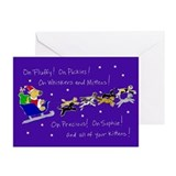 Christmas cards dog and cat Greeting Cards (10 Pack)