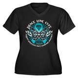 PCOS Tribal Butterfly Women's Plus Size V-Neck Dar