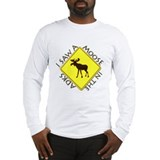 I saw a Moose in the Adironda Long Sleeve T-Shirt