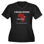 MAROON Women's Plus Size V-Neck Dark T-Shirt