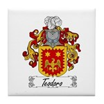 Teodoro Coat of Arms Tile Coaster