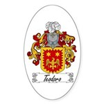 Teodoro Coat of Arms Oval Sticker