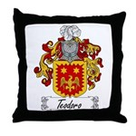 Teodoro Coat of Arms Throw Pillow