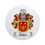 Teodoro Coat of Arms Ornament (Round)