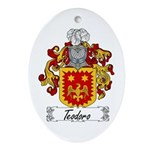 Teodoro Coat of Arms Oval Ornament