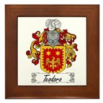 Teodoro Coat of Arms Framed Tile