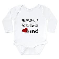 Someone in Alabama Long Sleeve Infant Bodysuit