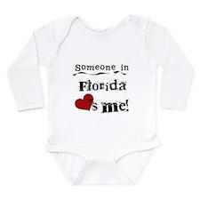 Someone in Florida Long Sleeve Infant Bodysuit