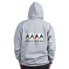 Starfleet Emblems Zipped Hoody