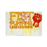 Fist Pumping Like Champs Rectangle Magnet (10 pack