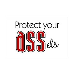 Protect Your ASSets Mini Poster Print