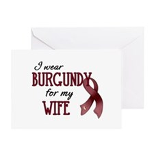 Wear Burgundy - Wife Greeting Card