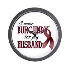 Wear Burgundy - Husband Wall Clock