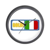 Italia (English) Wall Clock