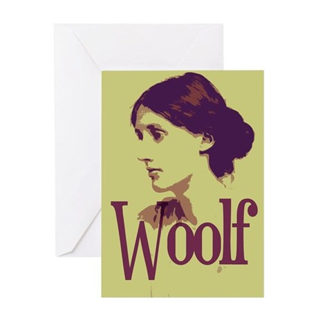Virginia Woolf Greeting Card