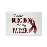 Wear Burgundy - Father Rectangle Magnet