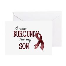 Wear Burgundy - Son Greeting Card