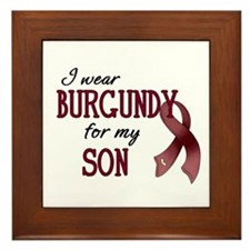 Wear Burgundy - Son Framed Tile