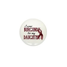 Wear Burgundy - Daughter Mini Button (10 pack)