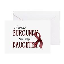 Wear Burgundy - Daughter Greeting Card