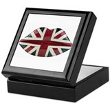 Union Jack Lips Keepsake Box